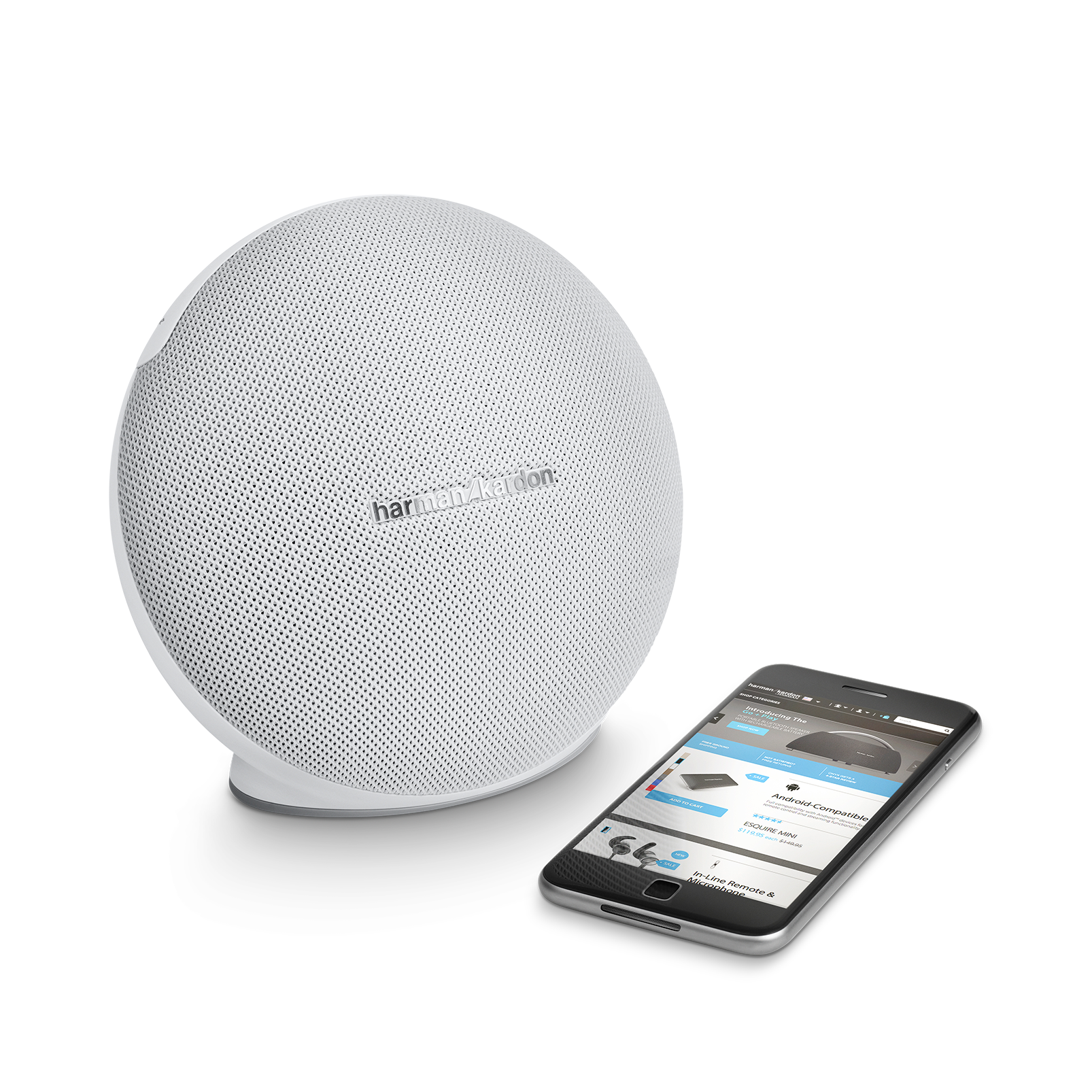 Onyx Mini - White - Portable Bluetooth Speaker - Detailshot 1