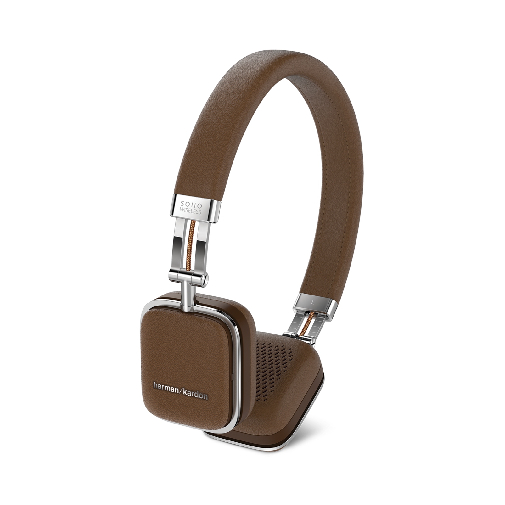 Soho Wireless - Brown - Premium, on-ear headset with simplified Bluetooth® connectivity. - Front
