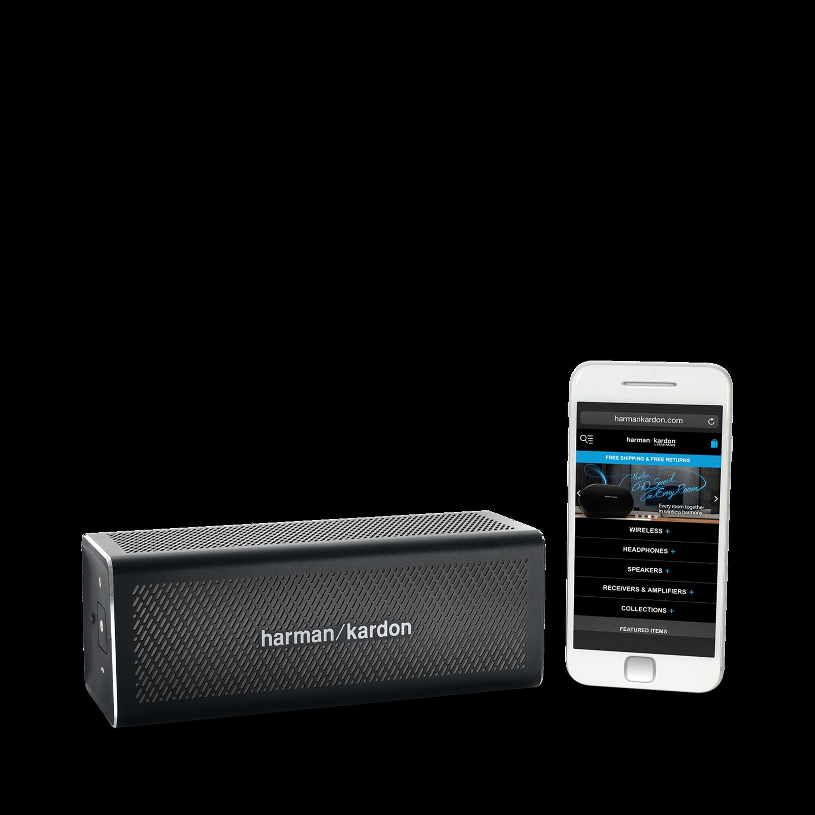HK One - Black - Portable Bluetooth Speaker - Detailshot 5