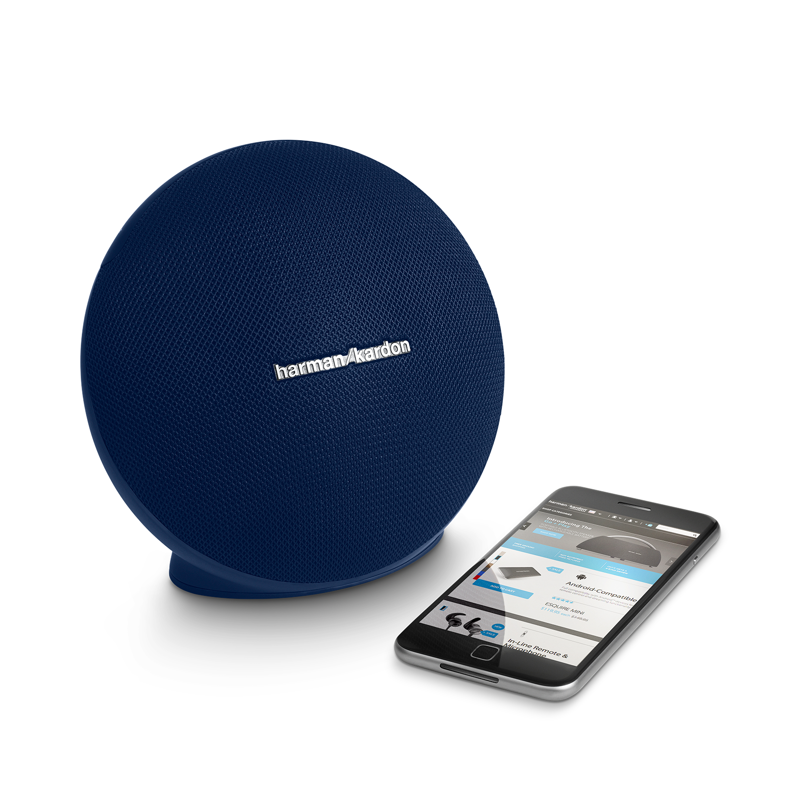 Onyx Mini - Blue - Portable Bluetooth Speaker - Detailshot 1